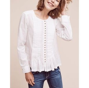 Maeve Anthropologie Gelise button up blouse